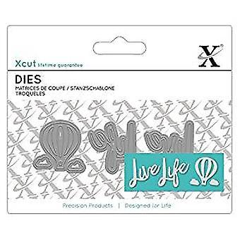 XCut Mini Sentiment Die (3pcs) - Live Life (XCU 504053)