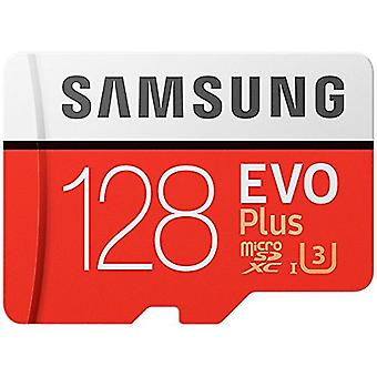 Samsung MB-MC128GA/AMZ 128 GB 100 MB/s Klasse 10 U3 Memory Evo Plus MicroSD-Karte mit Adapter-White/red