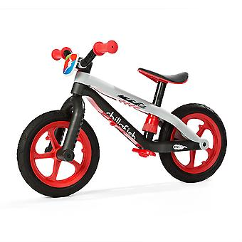 Chillafish BMXie Balance Bike With Rubber Skin Tyres Red Ages 2-5 Years