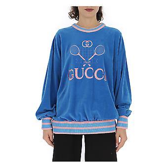 Gucci Light Blue Cotton Sweatshirt