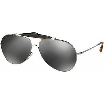 Prada SPR56S Gunmetal Grau Miroité Silber