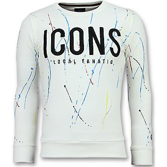 ICONS Painted-Funny Sweater men-6341W-White