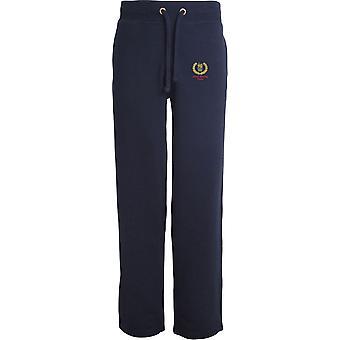 Équipe de boxe - Licensed British Army Embroidered Open Hem Sweatpants / Jogging Bottoms