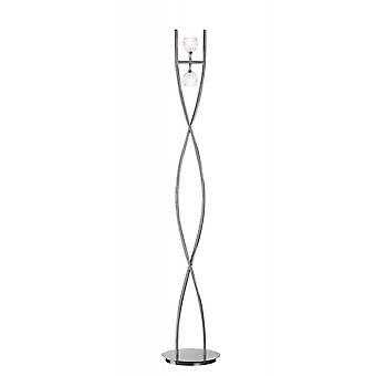 Mantra Dali Floor Lamp 2 Light G9, Polished Chrome