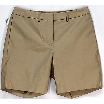 Vrede van doek casual shorts beige Solid Inseam 7 Womens