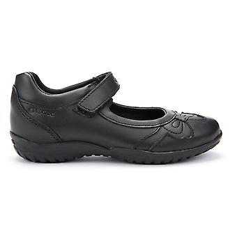 Geox flickor skugga J54A6A svart skola skor