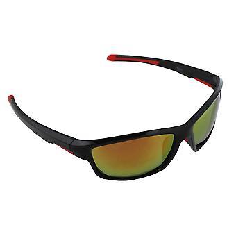 Sonnenbrille UV 400 Sport Rechteck PolarisierenGlas rot gelb S371_5 FREE BrillenkokerS371_5