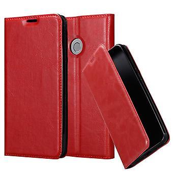 Cadorabo Hülle für ZTE Nubia Z11 MINI S Case Cover - Handyhülle mit Magnetverschluss, Standfunktion und Kartenfach – Case Cover Schutzhülle Etui Tasche Book Klapp Style