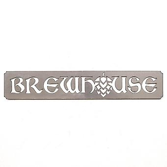 Brewhouse - metal cut sign 28x5in