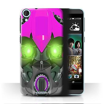 STUFF4 Case/Cover for HTC Desire 820q Dual/Bumble-Bot Purple/Robots