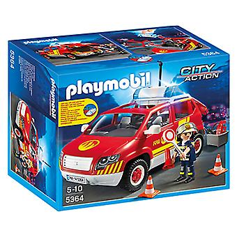 Playmobil 5364 Fire Chiefs Car with Lights and Sound