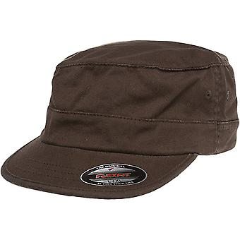 Cap ARMY MILITARY Fitted garment washed Cap - Brown