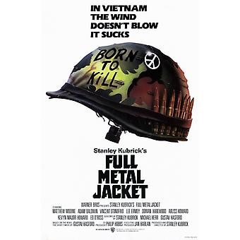 Impressão de cartaz de filme Full Metal Jacket (27 x 40)