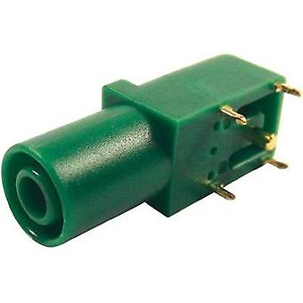 Safety jack socket Socket, right angle Pin diameter: 4 mm Green Cliff FCR7350G 1 pc(s)