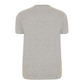 BadRhino Grey Crew Neck Basic T-Shirt - TALL