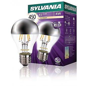 Sylvania Retro Filament LED-ljuskälla A60 Crown Silver 4W 450Lm E27