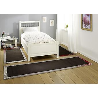 Design bed surround nice | dark brown/grey/cream/red 3teilig