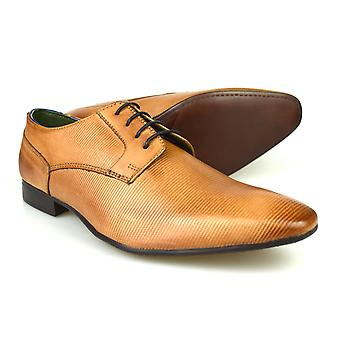 Silver Street London Brook Mens Tan Leather Formal Shoes