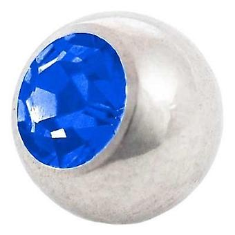 Piercing Replacement Ball, Blue Stone | 1,6 x 4, 5 and 6 mm, Body Jewellery