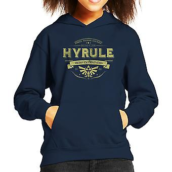 Legend Of Zelda Hyrule Hero Club Kid's Hooded Sweatshirt