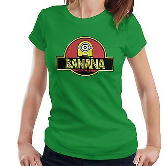 Minions Jurassic Park Banana Women's T-Shirt