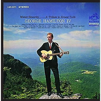 George Hamilton IV - Mister Sincerity: A Tribute to Ernest Tubb [CD] USA import