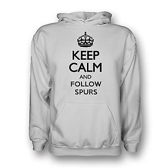Keep Calm And Follow Tottenham Hoody (white)