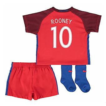 2016-17 England Away Baby Kit (Rooney 10)