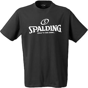 SPALDING logo basketball t-shirt [black]