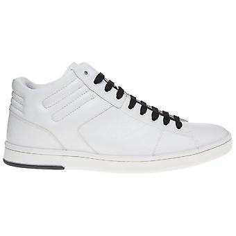 Hugo Boss Footwear Green Rayadv Midc High Top Leather White Trainer