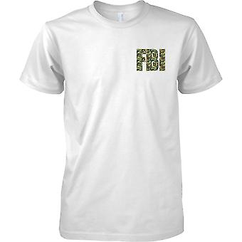 Federal Bureau of Investigation - FBI Polizei - Camo-Effekt--Kinder Brust Design T-Shirt