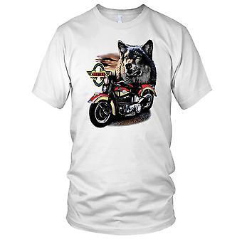 Wolf Hog klassiske Biker slid motorcykel motorcykel Herre T-shirt