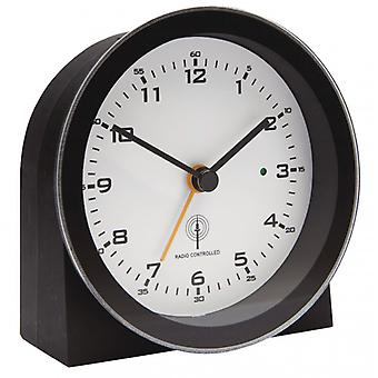 Balance Radio-Controlled Alarm Clock Analogue Black/White