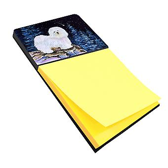 Starry Night Coton de Tulear Refiillable Sticky Note Holder or Postit Note Dispe