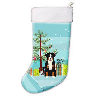Merry Christmas Tree Appenzeller Sennenhund Weihnachts-Strumpf