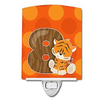 Carolines Schätze BB9015CNL Zoo Monat 8 Tiger Keramik Nachtlicht