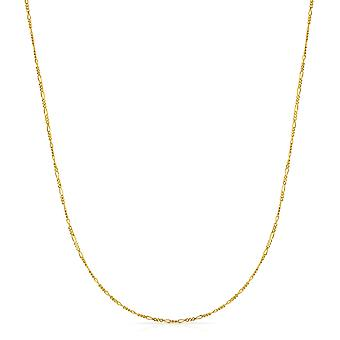 Floreo 10k Fine Gold Figaro Chain Necklace (1.5 mm)