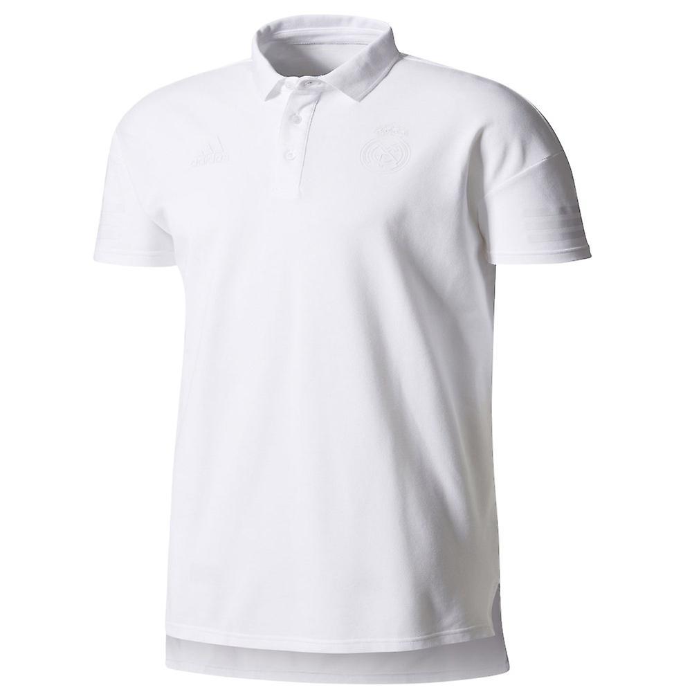 2017-2018 real Madrid Adidas SSP Polo skjorta (vit)
