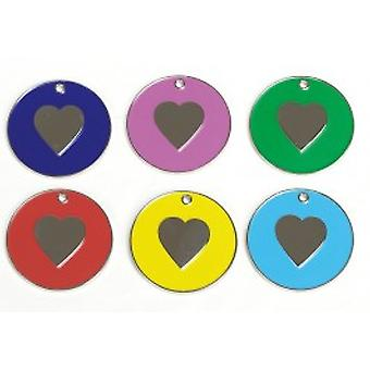 Brilliant Heart-shaped Nickel Tag-yellow