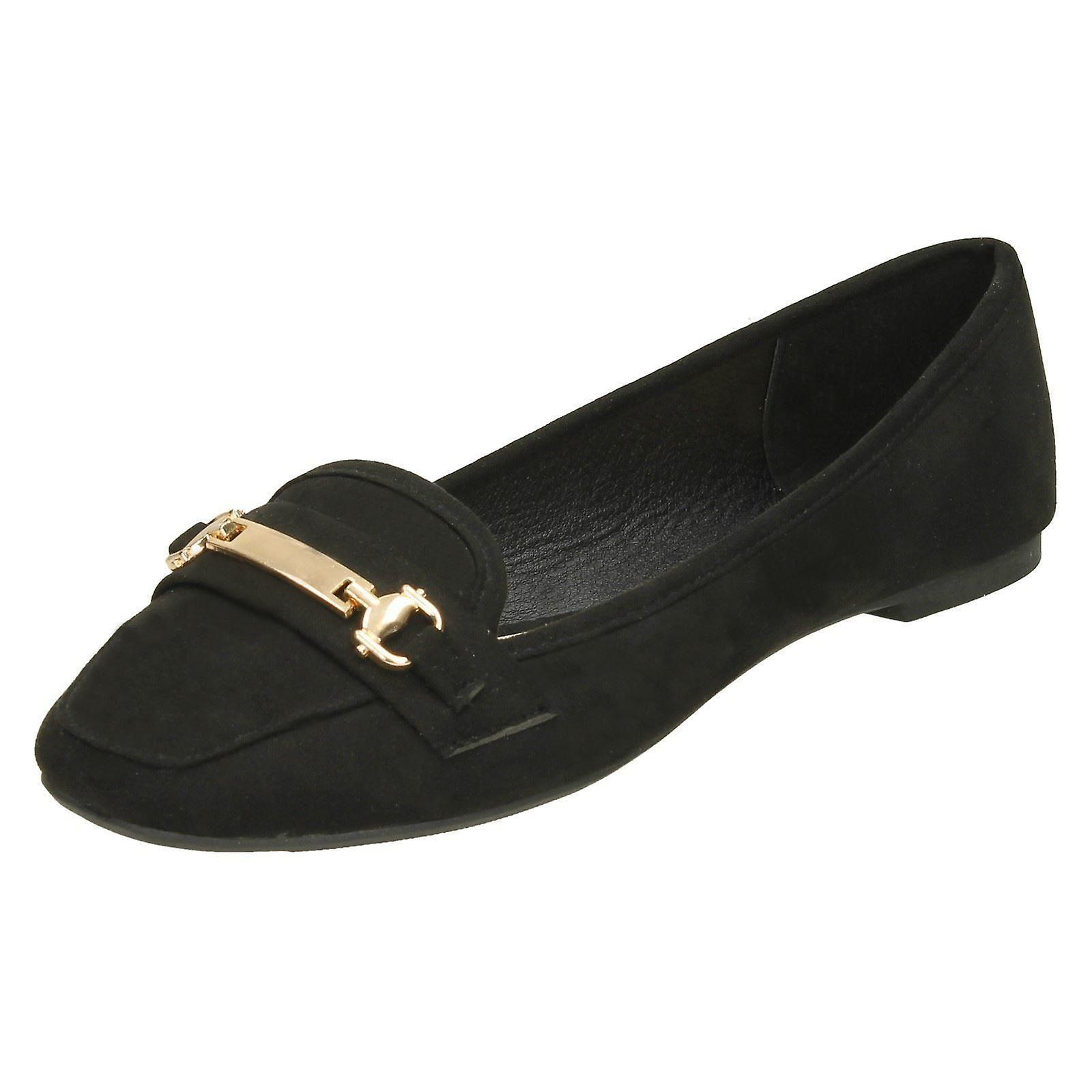 UK US 39 Black Size Size Ladies EU Microfibre Saddle Vamp Loafers 8 On Spot F80373 6 Size xOqW6w8TO