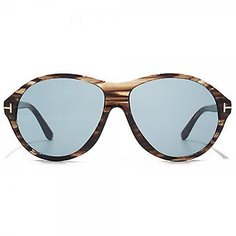Tom Ford Tyler Sunglasses In Brown Marble