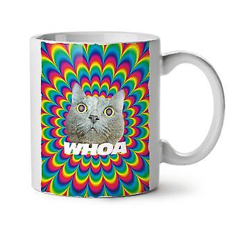 Psychedelic alta diversión nuevo té blanco taza de café de cerámica 11 oz | Wellcoda