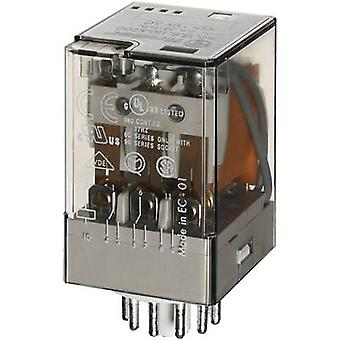 Plug-in relay 110 Vac 10 A 3 change-overs Finder 6