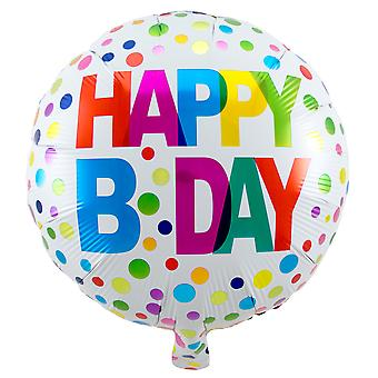Foil balloon of happy bday birthday about 45 cm