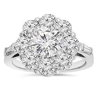 3,00 CT Diamant Verlobungsring 14K White Gold