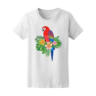 Macaw Parrot Tropical Bird Tee Women's -Image by Shutterstock