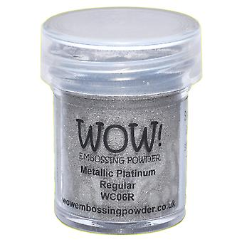 Wow! Embossage poudre 15Ml Wow platine Wc06r