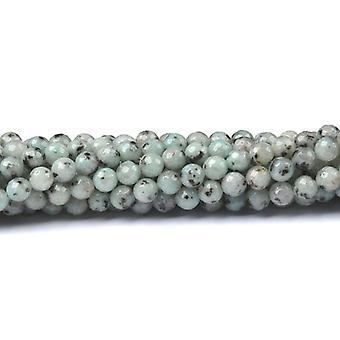 Strand 40+ Blue/Grey Sesame Jasper 8mm Faceted Round Beads CB48973-3