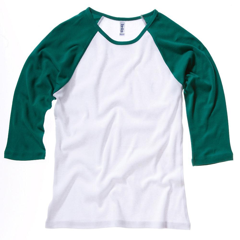 Bella Canvas Ladies Baby Rib 3/4 Sleeve Contrast Raglan T-Shirt