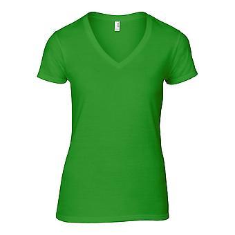 Anvil Womens Fashion Basic V-Neck Cotton T Shirt